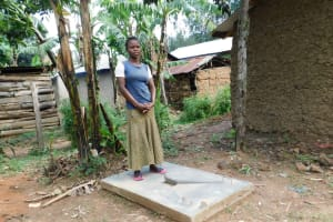 The Water Project: Shihingo Community, Inzuka Spring -  New Sanitation Platform Owner