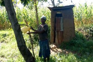 The Water Project: Sambaka Community, Sambaka Spring -  Tippy Tap For Handwashing