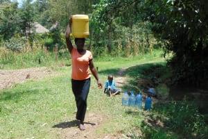 The Water Project: Bukhaywa Community, Ashikhanga Spring -  Carolyne Makhavali