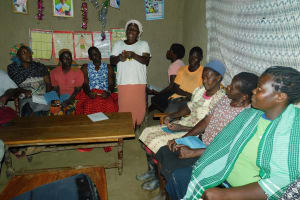 The Water Project: Shamiloli Community, Kwasasala Spring -  Community Member Answers A Question