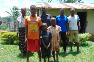 The Water Project: Bukhaywa Community, Shidero Spring -  Beatrice Andrew Peter And Family