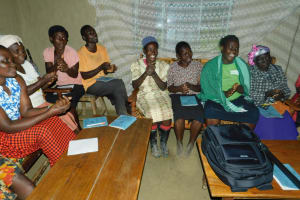 The Water Project: Shamiloli Community, Kwasasala Spring -  Handwashing Demonstration