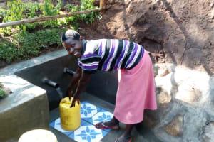 The Water Project: Buhayi Community, Nasichundukha Spring -  Happy Filling Up