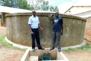 The Water Project: Bishop Makarios Secondary School -  Andrew And Field Officer Wilson