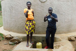 The Water Project: JM Rembe Primary School -  Karen And Field Officer Erick