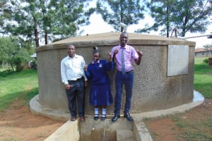 The Water Project: St. Stephen Maraba Secondary School -  Principal Ongeri With Phelistus And Other Student
