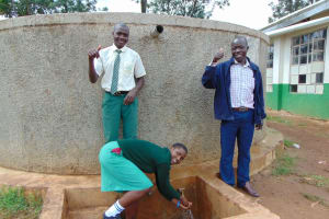 The Water Project: Injira Secondary School -  Dennis Cynthia And Daniel