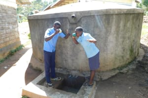 The Water Project: Muyere Secondary School -  Thumbs Up For Drinking Water