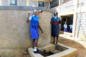 The Water Project: Eshisenye Girls Secondary School -  Everline With Principal Osore