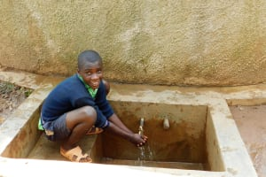 The Water Project: Shitsava Primary School -  Student At Rain Tank