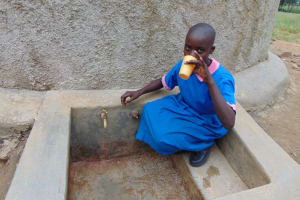 The Water Project: Eshiamboko Primary School -  Eunice Takes A Drink