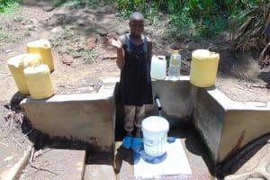 The Water Project: Bukhunyilu Community, Solomon Wangula Spring -  Sheila Wangula