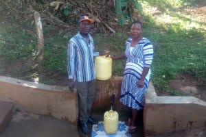 The Water Project: Mwichina Community, Mwichina Spring -  Nathan With Betty