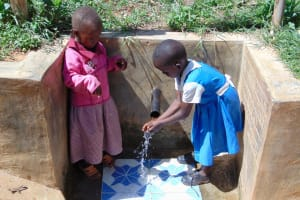 The Water Project: Bumavi Community, Esther Spring -  Children At The Spring