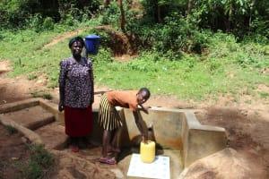 The Water Project: Malava Community, Ndevera Spring -  Margaret With Faith Lumanye Jumba