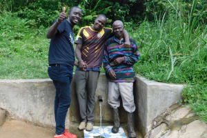 The Water Project: Ulagai Community, Aduda Spring -  Field Officer Eric Wagaka Joins William And John
