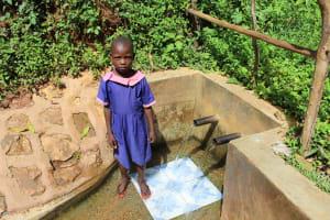 The Water Project: Jivovoli Community, Wamunala Spring -  Valentine Nasimiyu
