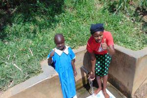 The Water Project: Mwituwa Community, Shikunyi Spring -  Christine And Margaret