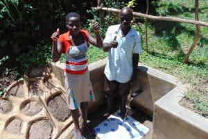 The Water Project: Nambatsa Community, Odera Spring -  Maria And Jairus