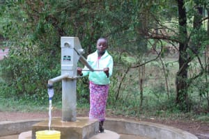 The Water Project: Kitali Community -  Diana At The Pump