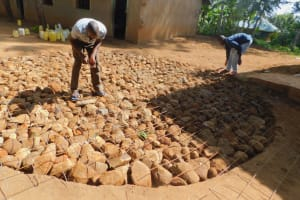 The Water Project: Makunga Primary School -  Tank Foundation Underway