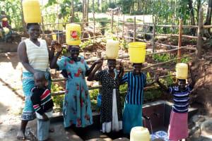 The Water Project: Buhayi Community, Nasichundukha Spring -  Stronger Together