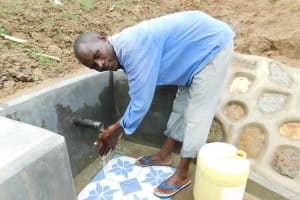 The Water Project: Shihingo Community, Inzuka Spring -  Flowing Water