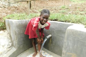 The Water Project: Shamiloli Community, Kwasasala Spring -  Clear Water