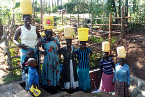 The Water Project: Buhayi Community, Nasichundukha Spring -  All Smiles