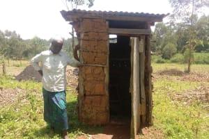 The Water Project: Bukhaywa Community, Ashikhanga Spring -  Women Next To Latrine