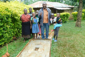 The Water Project: Mutao Community, Kenya Spring -  New Owners Of A Sanitation Platform