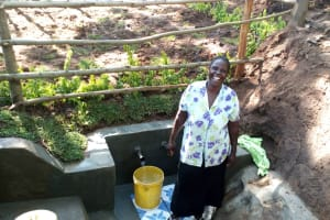 The Water Project: Buhayi Community, Nasichundukha Spring -  Smiles For Clean Water