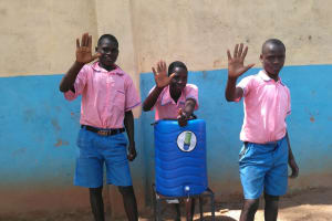 The Water Project: Irovo Orphanage Academy -  Boys With Handwashing Station