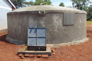 The Water Project: Ikumba Secondary School -  Completed Rain Tank