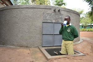 The Water Project: Makunga Primary School -  Having A Drink
