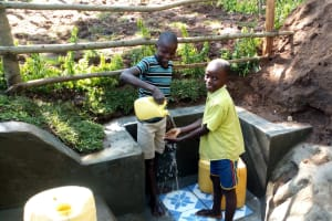 The Water Project: Buhayi Community, Nasichundukha Spring -  Kids At The Spring