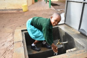 The Water Project: Makunga Primary School -  Flowing Water