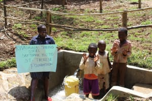 The Water Project: Shamiloli Community, Kwasasala Spring -  Thank You St Therese Foundation