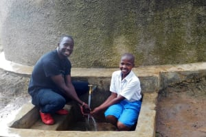 The Water Project: Rabuor Primary School -  Field Officer Erick With Juliet