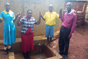 The Water Project: Eshilibo Primary School -  Centrine Field Officer Betty Chrisantus And Mr Anunda