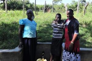 The Water Project: Ingavira Community, Laban Mwanzo Spring -  Ruth Rael And Field Officer Mary Afandi