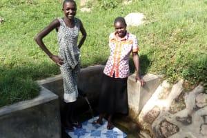 The Water Project: Ejinja Community, Anekha Spring -  Jemmimah And Snaida