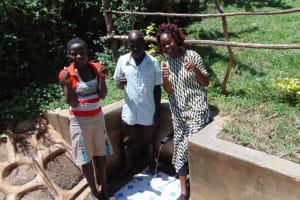 The Water Project: Nambatsa Community, Odera Spring -  Maria Jairus And Field Officer Lillian