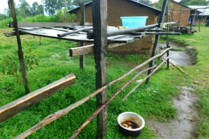The Water Project: Kapkures Primary School -  Dishrack Beside The Kitchen