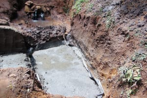 The Water Project: Buhayi Community, Nasichundukha Spring -  Cement Foundation Sets