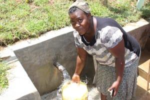 The Water Project: Shamiloli Community, Kwasasala Spring -  Filling Up