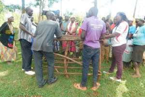 The Water Project: Mutao Community, Kenya Spring -  Discussion Around New Dishrack