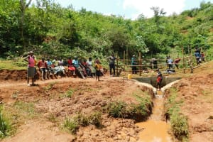 The Water Project: Mutao Community, Kenya Spring -  Training At The Spring Site
