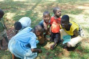 The Water Project: Mutao Community, Kenya Spring -  Children Enjoying Delicious Termites After Training