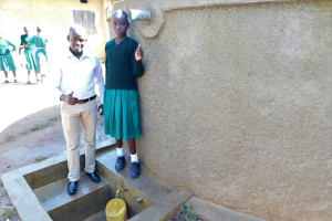 The Water Project: Bushili Primary School -  Field Officer Mutai With Vanessa